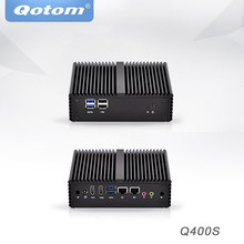 Qotom Mini Pc Intel Core I3 I5 I7 Industriële Micro Pc Barebone Systeem Dual Core Dual Lan Pfsense Desktop Mini computer X86(China)