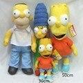 1 шт. Новый Мультфильм Симпсоны Плюшевые Игрушки Куклы Симпсоны Семья Плюшевые Игрушки Лучшие Подарки 30 ~ 50 см розничная