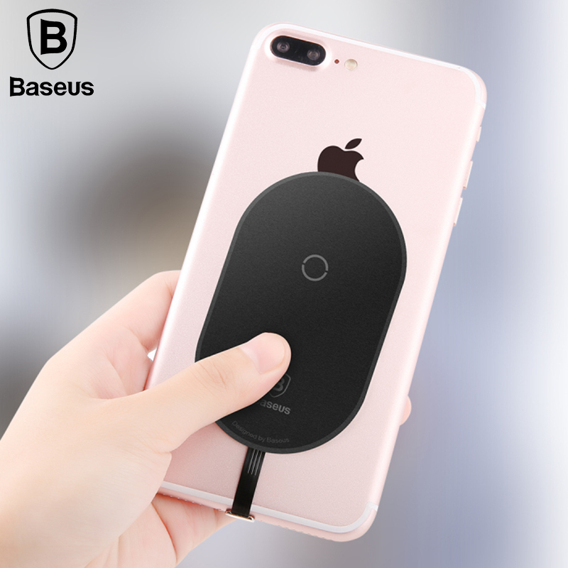 Baseus QI Wireless Charger Receiver For iPhone X 8 7 6 5 Samsung Note 8 S8 S7 S6 Edge Wireless Charging Receiver For Xiaomi MiA1
