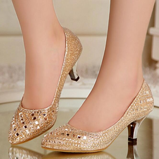 Popular Rhinestone Kitten Heels-Buy Cheap Rhinestone Kitten Heels ...