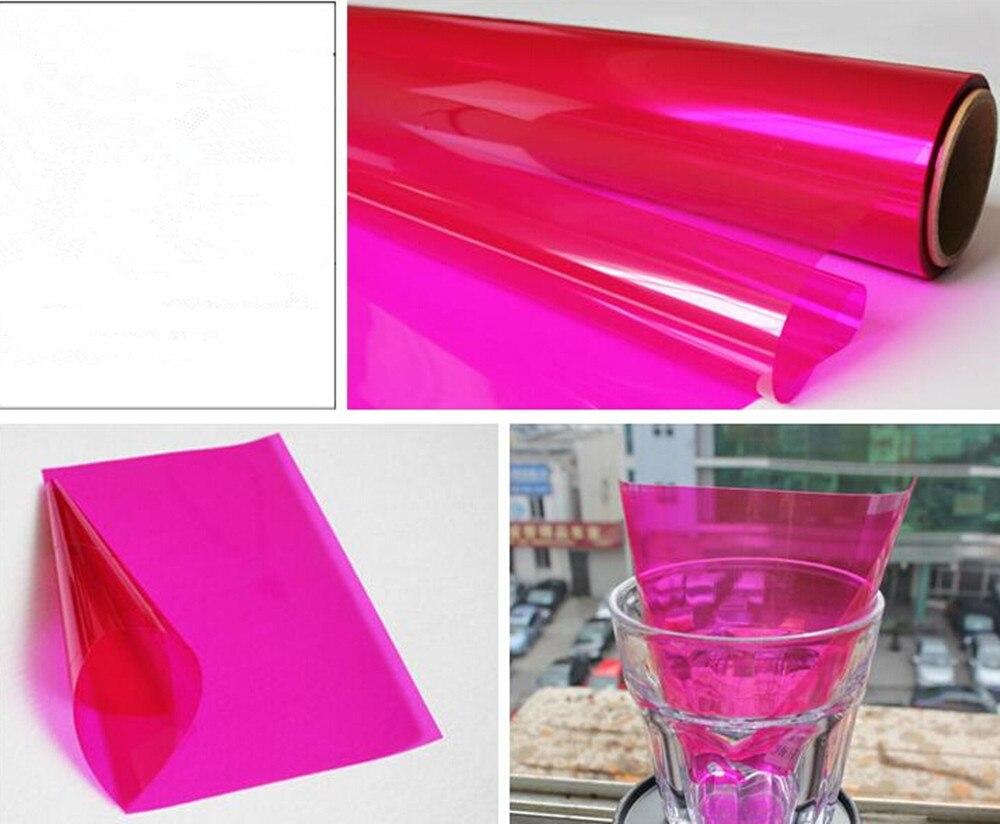 152 cm * 500 cm Rose Décoratif Film de Fenêtre pour La Maison Immeuble de Bureaux En Verre Sticker Home Decor 60 ''x 196.8''