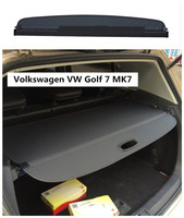 For Volkswagen VW Golf 7 MK7 2014 2018 Rear Trunk Cargo Cover Security Shield Screen shade High Qualit Car Accessories