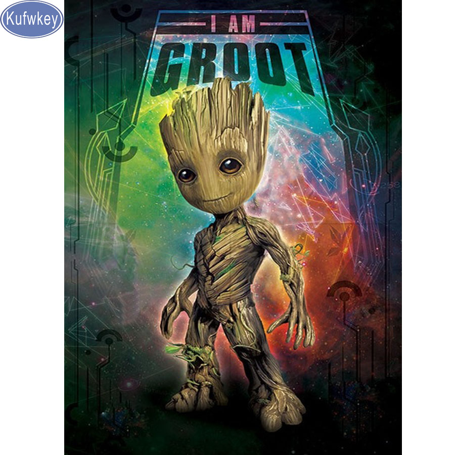 5D Diamond Painting guardians galaxy Cross-Stitch pictures of Rhinestone Needlework Embroidery Mosaic Home Decoration decorative