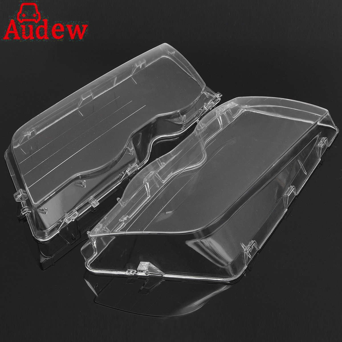 Pair Car Housing Headlight Lens Shell Cover Lamp Assembly For BMW E46 3-Series /4DR /Wagon /Sedan 1999 -2001