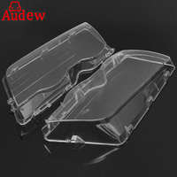 Pair Car Housing Headlight Lens Shell Cover Lamp Assembly For BMW E46 3 Series 4DR Wagon