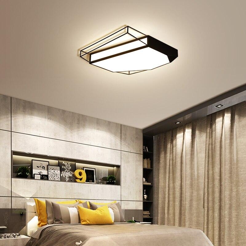 New Black/white frame led Ceiling lights Novelty Modern bedroom plafonnier led Simple ceiling lamp luminaria de teto Fixtures цена 2017