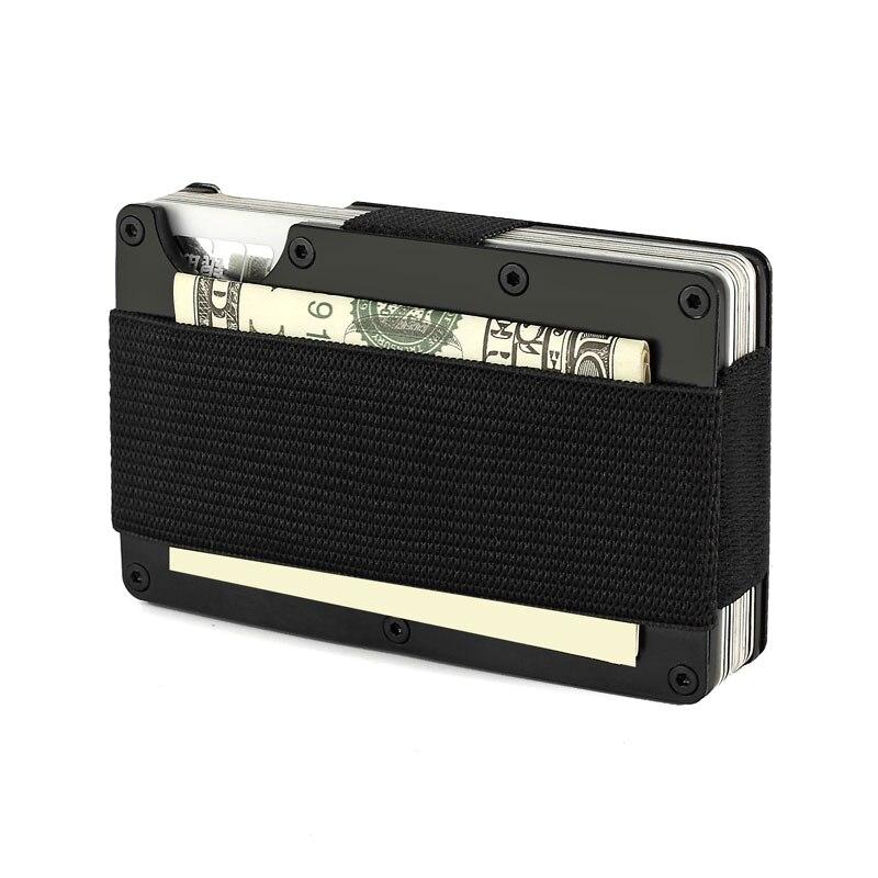 Rfid Metall Brieftasche Aviator Nfc Reise Aluminium Kreditkarte Halter mit Geld Brieftaschen Clip
