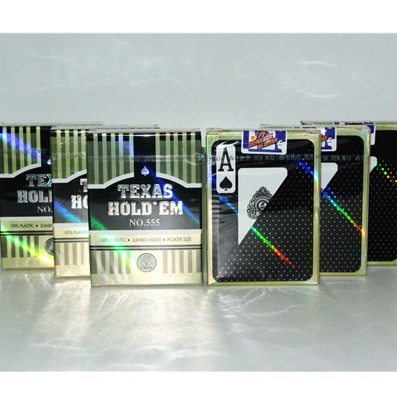 1 PCS Black Texas Holdem Poker Cards Waterproof And Dull Polish Poker Plastic Material