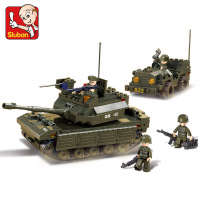 Sluban Model Building B6800 602pcs Model Building Kits Classic Toys Hobbies Army Combat Force