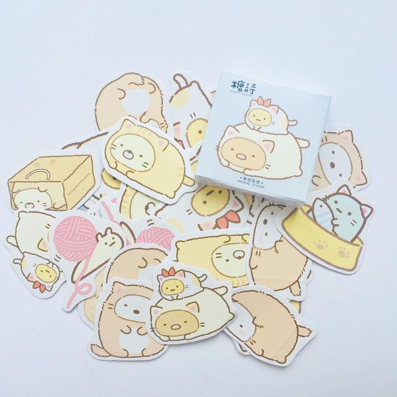 45 Pcs /Box Cute Sumikko Gurashi Decorative Stickers Notebook Computer Decor