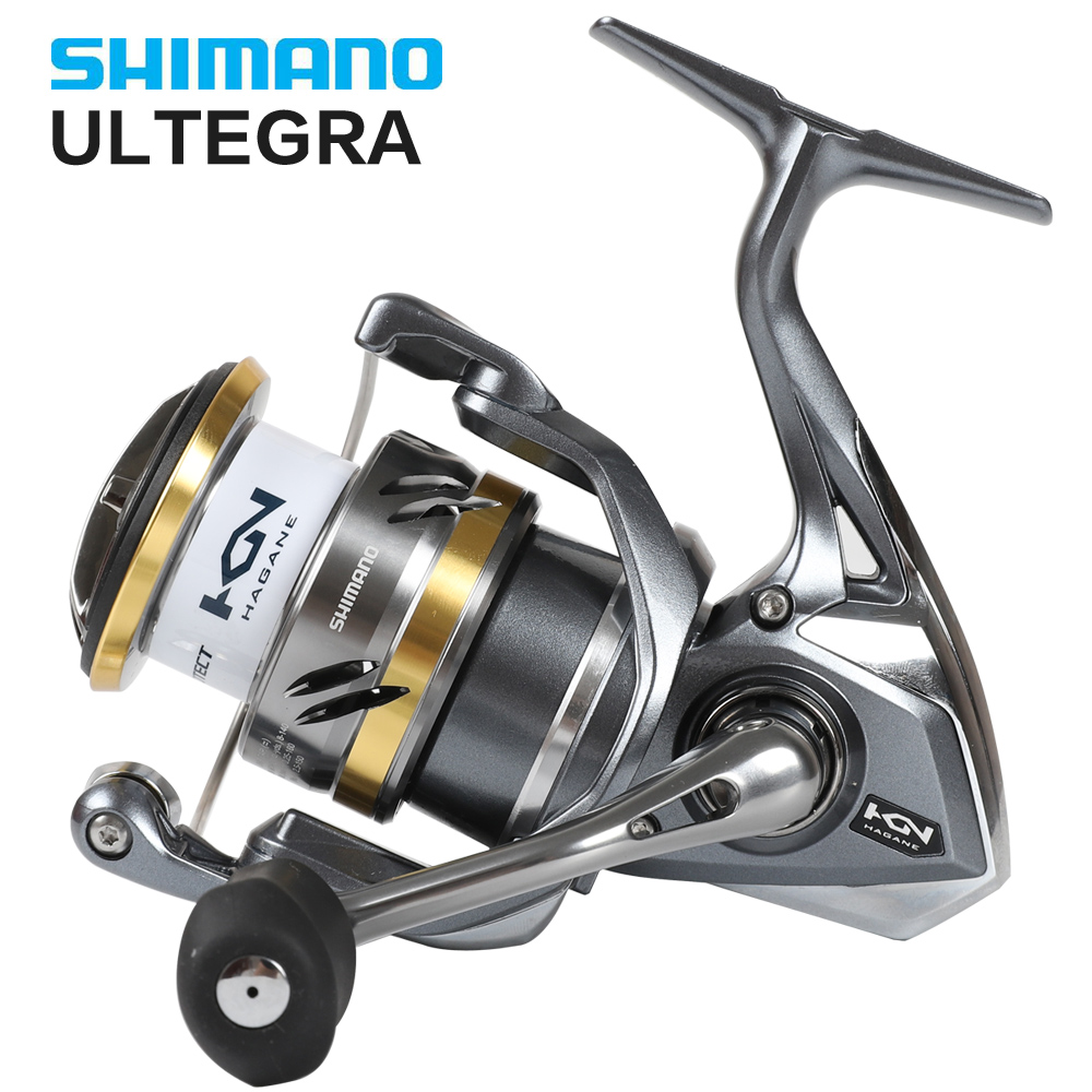 Relação FB Duas Velocidades Shimano ULTEGRA Originais 1000HG 2500HG C3000HG C5000XG 5 + 1BB Spinning Reel Fishing X-Navio saltewater Carretel