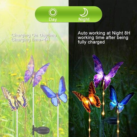luzes solares do jardim multi mudando a cor
