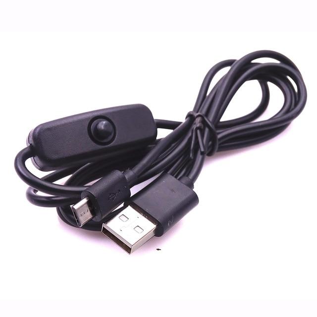Raspberry Pi 3 Stromkabel mit schalter AUF/AUS taste Micro usb ...
