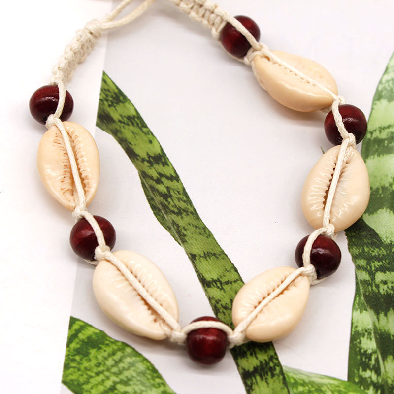 New Beach Rope Chain Shell Beads Bracelets for Women Fashion Hand Woven Anklet Bracelet Bohemian Jewelry in Anklets from Jewelry Accessories