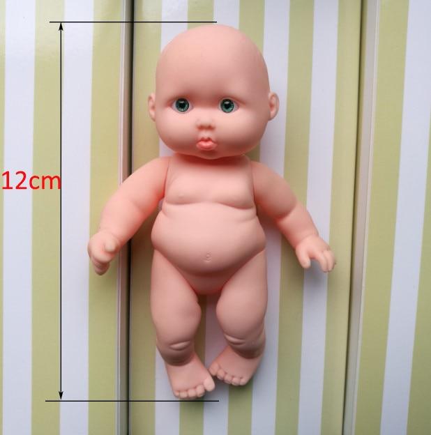 4pcs/a lot  Lovely kawaii mini dolls reborn baby corpo inteiro de silicone reborn baby dolls newborn lifelike baby   XJJ001 1