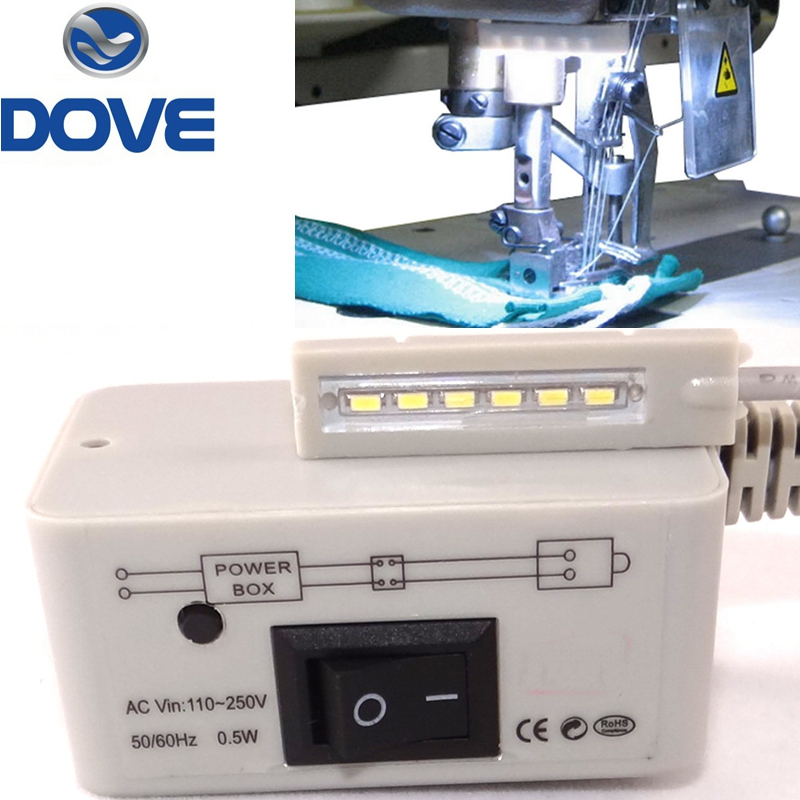 Šivalni stroj Deli Orodja Dodatki Led Bar Light Delovna miza Svetilka energijsko varčna dnevna magnetna osnova 110v 220v