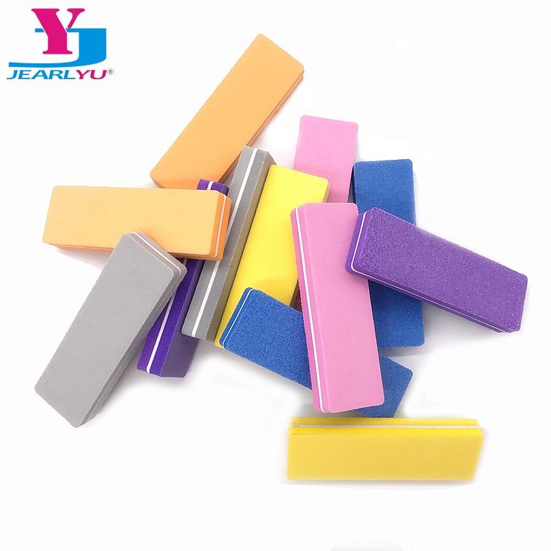 Multicolor Nail File Buffer Sponge Mini Nail File Block Buffer Sanding 100/180 Professional Nail Art Tools Salon Lime A Ongle