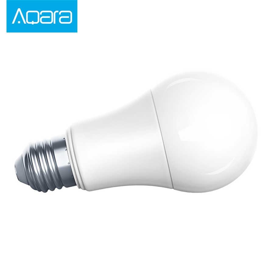 Xiaomi mijia Aqara Zigbee חכם LED הנורה Zigbee גרסה 9W E27 2700 K-6500 K צבע לבן חכם מרחוק LED הנורה אור עם בית קיט