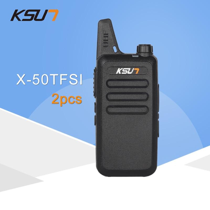 (2 PCS) KSUN X-50TFSI Ham Toveis Radio Walkie Talkie Dual-Band Transceiver BUXUN X-50 (Svart)