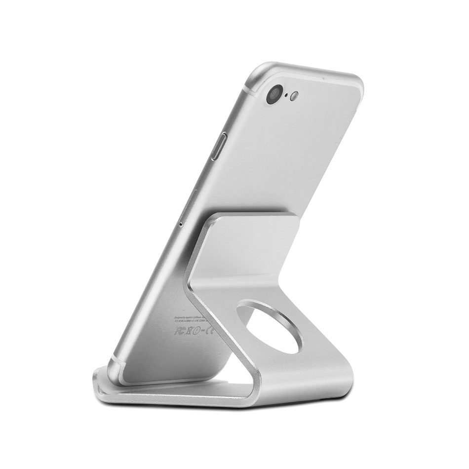 Mobile Phone Accessories Holder Stand For Iphone 8 7 7plus 6s 6 5s 5 Cellphone For Kindle Ebook Aluminum Metal Mobile Phone Tablet Desk 1pc Low Price