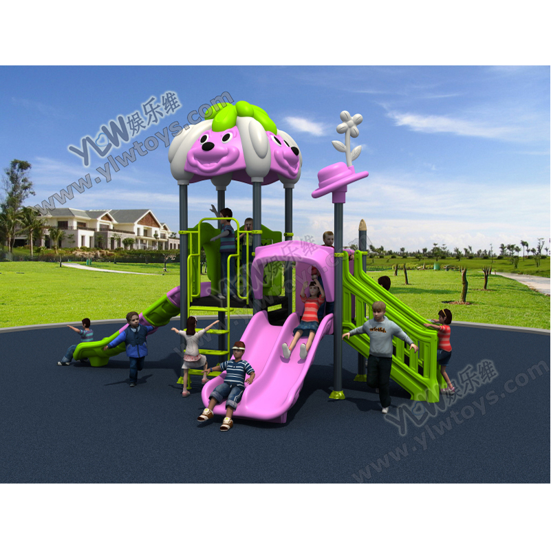 KIDS Small Playground With CE/TUV Plastic Outdoor Playground Slide For School/park/community
