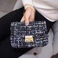 2017 new fashion  crossbody bags for women woolen tweed mini bags luxury handbags women bags designer