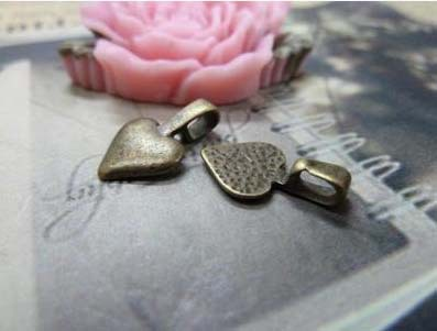 Zinc alloy pendant jewelry accessories diy handmade material charms Love shape hanging head10*16mm