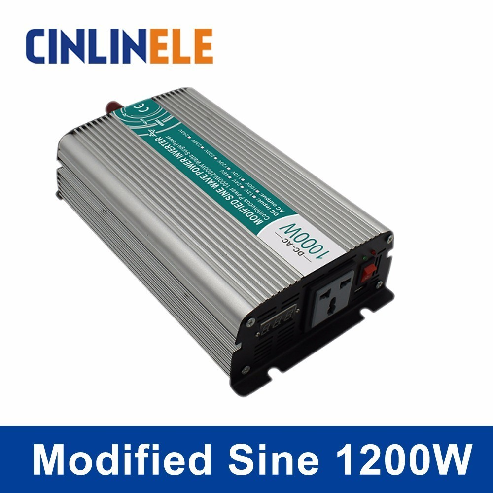 Smart Modified Sine Wave Inverter 1200W CLP1200A DC 12V 24V AC 110V 220V Smart Series Solar Power 1200W Surge Power 2400WSmart Modified Sine Wave Inverter 1200W CLP1200A DC 12V 24V AC 110V 220V Smart Series Solar Power 1200W Surge Power 2400W
