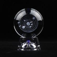 3D лазерная гравировка солнечной системы хрустальный шар планеты декоративный стеклянный шар ремесла Глобус скандинавские украшения дома аксессуары
