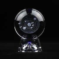 3D Laser Gravierte Solar System Kristall Ball Planeten Dekorative Glas Ball Handwerk Globus Nordic Hause Dekoration Zubehör