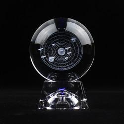 3d laser gravado sistema solar bola de cristal planetas decorativo bola de vidro artesanato globo nordic decoração para casa acessórios