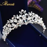Bride Wedding Baroque Headdress Accessories Married Crown AB Crystal Tiara Birthday Queen Crown Korean Tiara Princess