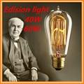 Retro lâmpada ST58 edison lâmpada do vintage e27 lâmpada incandescente 110 v 220 v luzes do feriado 40 w 60 w lâmpada de filamento lampada para casa decoração