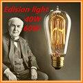 Retro lamp ST58 vintage edison bulb e27 incandescent bulb 110v 220v holiday lights 40w 60w filament lamp lampada for home decor