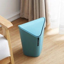 bathroom living room kitchen plastic trash hooded desktop trash can fashion office trash canchina