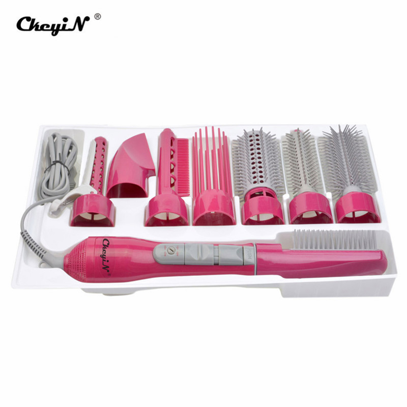8 In1 Multifunctional Professional Blow Hair Dryer With Brush/Comb Powerful Hairdryer Blow Dryer Set With Attachments Styling