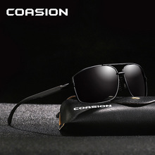 COASION Brand Design Retro Men Polarized Sunglasses Square Aluminum Male Shades Driving Sun Glasses gafas de sol hombre CA1088