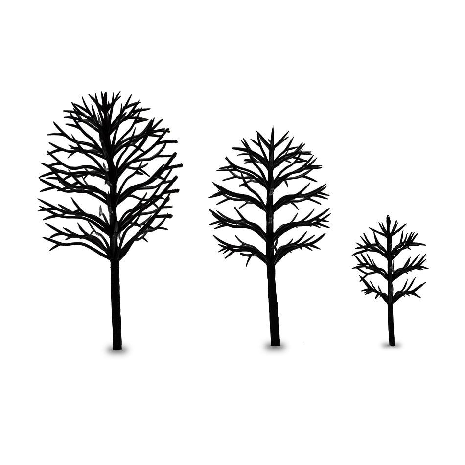 100pcs 4/6/8/10/12CM ARCHITECTURAL MODEL BUILDING MAKING WARGAME TREES LAYOUT Diy Kit