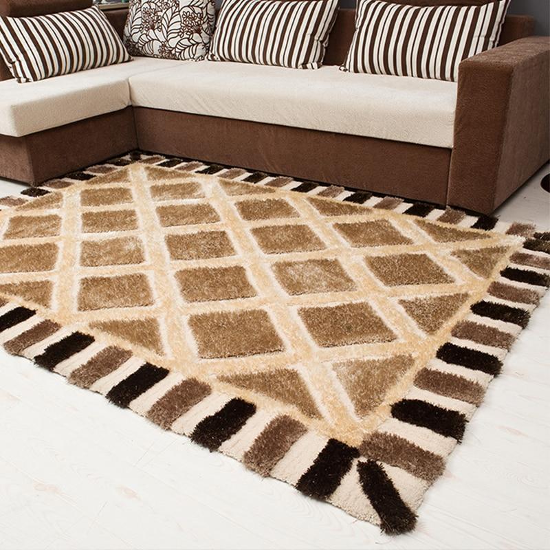 Grande taille 250x350 CM géométrique noir blanc plaine tapis et tapis pour la maison salon moderne doux zone tapis chambre tapis