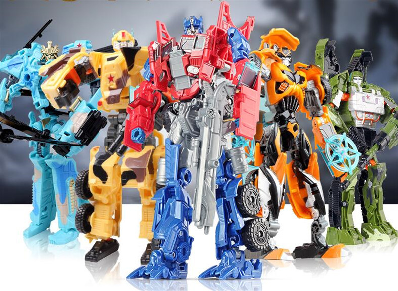 Model Transformation Robot Plastic Toys Action-Figure-Toys Children Education Gifts 13-Styles