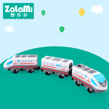 Zalami Electric Railroad Train Set Education Toy Railway Truck High Speed Three-Train toys 2017NEW