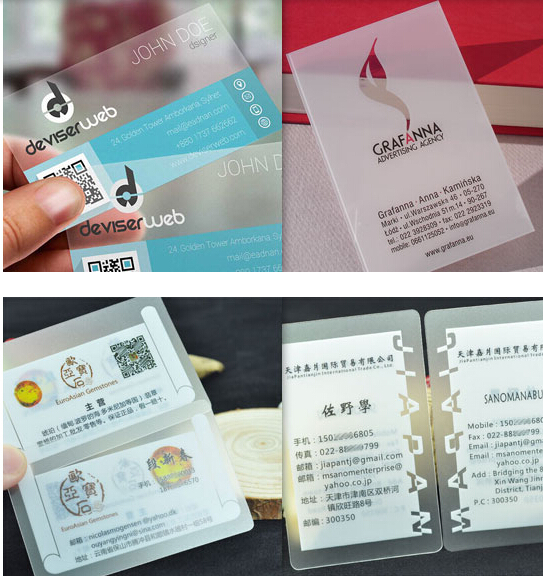 Customized Business Card Printing 500pcs Plastic Transparent Pvc