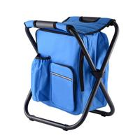 Foldable Fishing Chair Backpack Camouflage Oxford Cloth Metal Tube Portable Fishing Bag And Chair Fishing Equipment