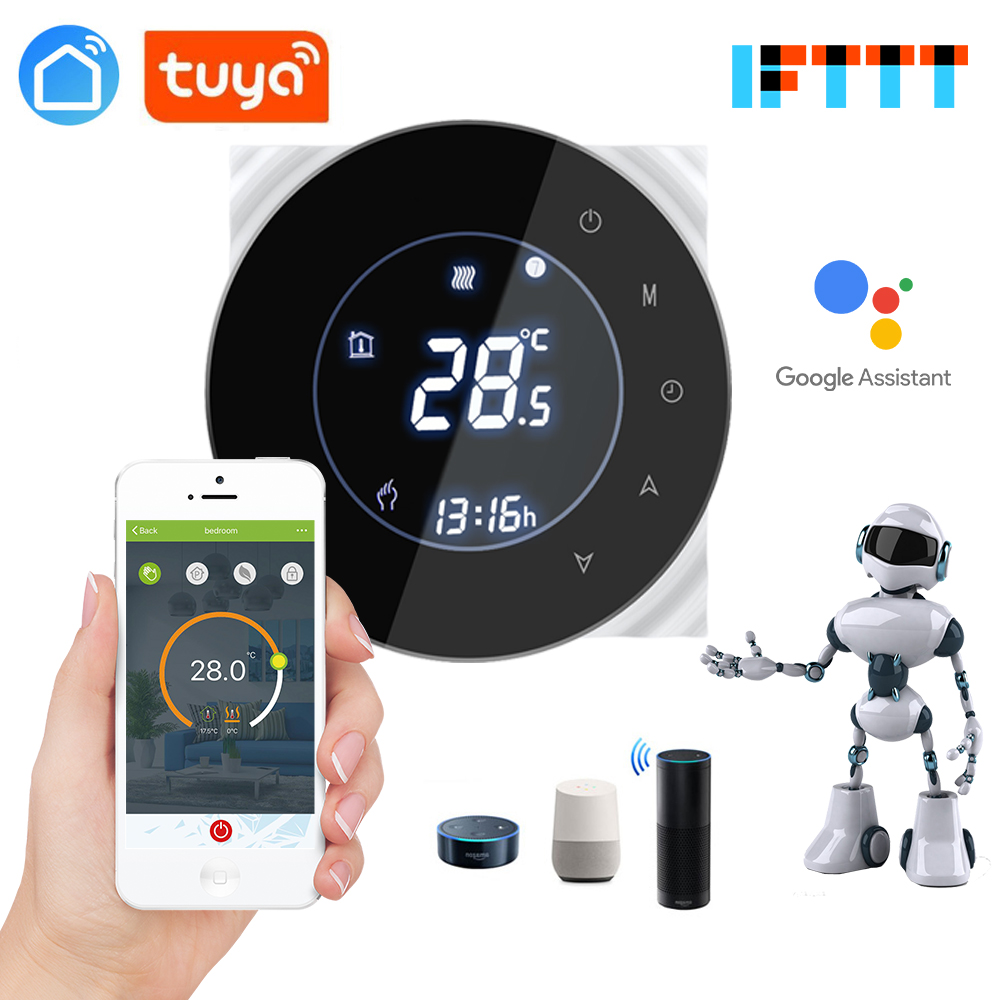 Google Home Alexa Echo Speaker Control 16A Tuya App Wifi Thermostat For Infrared Heater Electric Carbon Floor Heating Film
