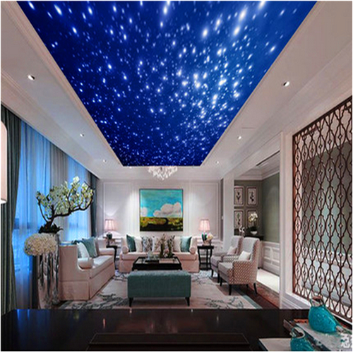 custom wall mural 3D living room sofa TV background wall European space star sky ceiling KTV bar mural wallpaper