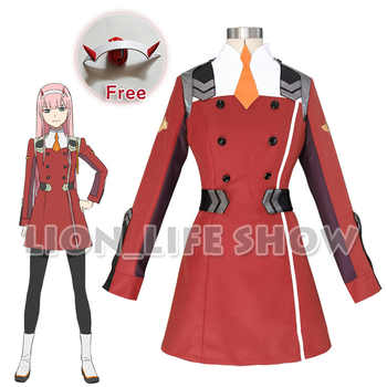 DARLING in the FRANXX ZERO TWO CODE 002 02 Outfit Dress Cosplay Costume Full Set - DISCOUNT ITEM  24% OFF All Category
