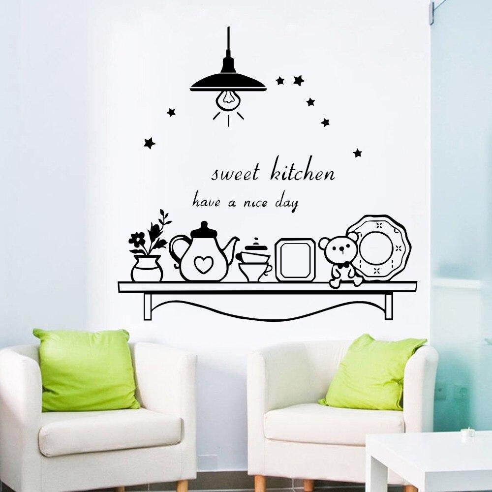 Sweet Kitchen Art Decal Sticker , vinyl coffee wall ...