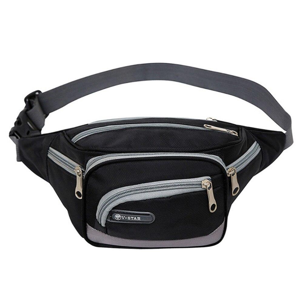Outdoor Nylon Fanny Pack Mens Waist Belt Bag Womens Purse Hip Pouch Travel