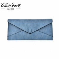 Sally Young 2017 New Bag Design Pattern Stylish Leather Wallet Bag Candy Color Women Wallet VKP1504