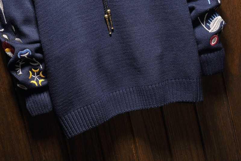 크리스마스 남성 스웨터 겨울 의류 2019 플러스 사이즈 아시아 M-4XL 5xl 6xl 일본 스타일 캐주얼 표준 디자이너 풀오버